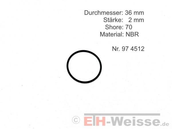Zetor - Dichtring, Gummi, 36x2 - Nr. 954512